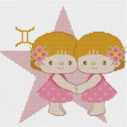 Схема вышивки близнецов